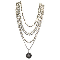 Safia Day Fresh Water Pearl, Sliced Diamond, and Sliced Baroque Pearl Necklace