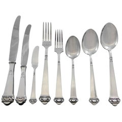 Saga by Mylius Brodrene 830 Silver Flatware Set Service 69 pcs Norwegian Dinner