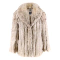 Saga Fox Platinum Fox Fur Coat