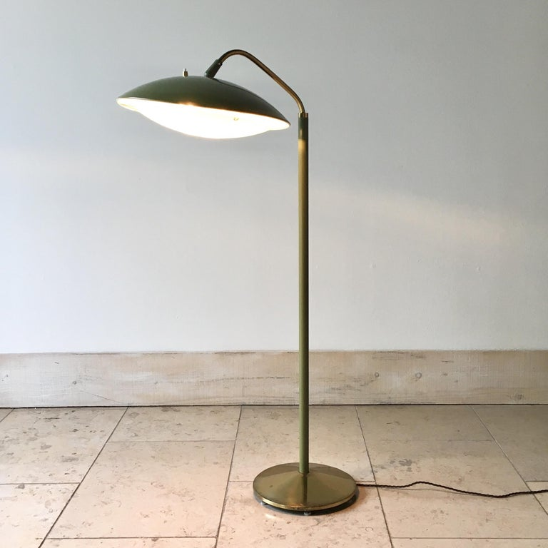 American Sage Green Floor Lamp by Gerald Thurston, 1950s