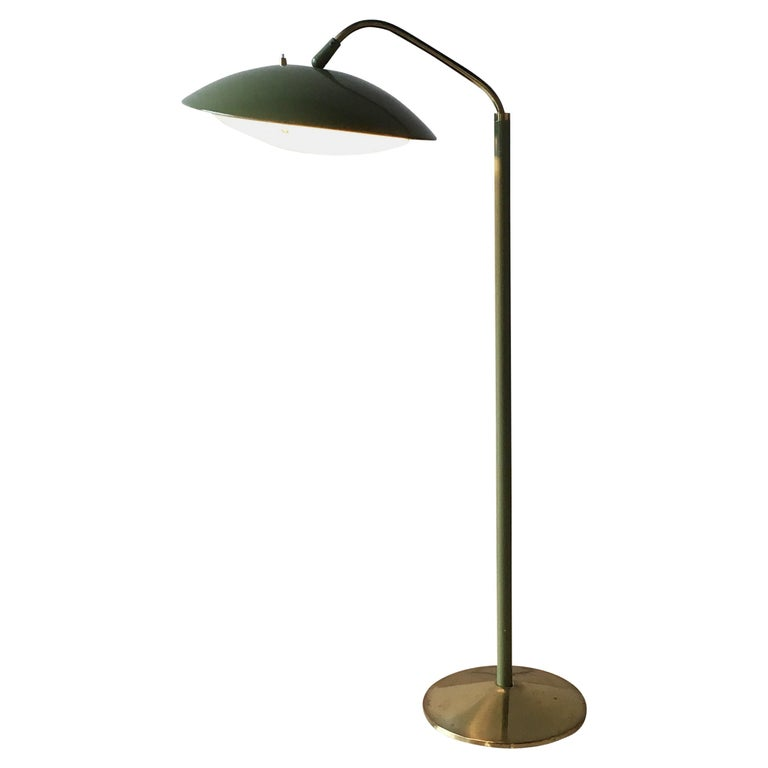 Sage Green Floor Lamp by Gerald Thurston, 1950s