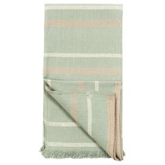 SAGE Handloom Throw / Blanket In Organic Cotton In Soft Neutral Pastel Shades