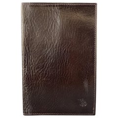 SAGEBROWN Dark Wine Brown Leather Passport Cover