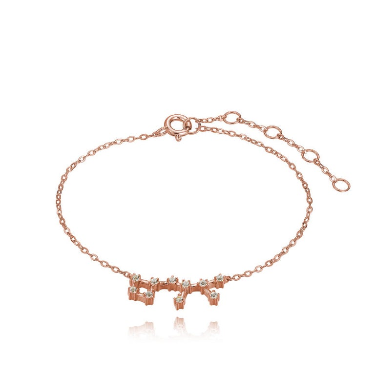 You are unique and your zodiac tells part of your story.  How your zodiac is displayed in the beautiful nighttime sky is what we want you to carry with you always. This sagittarius constellation bracelet shares a part of your personality with us all