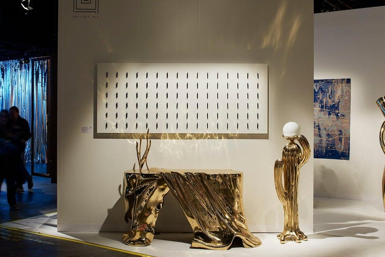Contemporary Saguaro No.2 Floor Lamp Polished Brass Gold by Zhipeng Tan For Sale