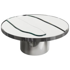 Sahara Side Table in Metal Base with Mirror Top by Roberto Cavalli