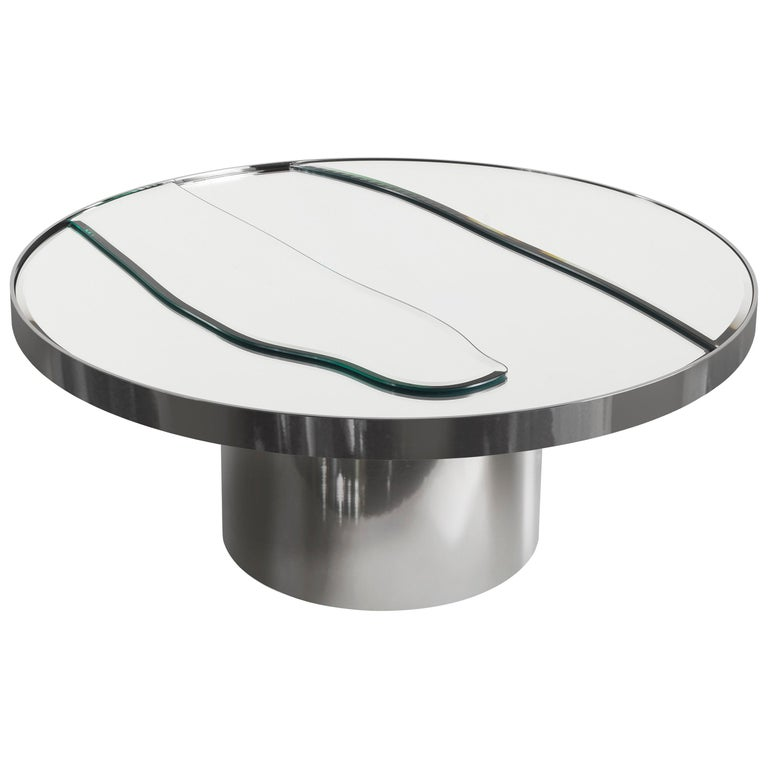 Sahara Side Table with Mirror Top by Roberto Cavalli Home Interiors For Sale