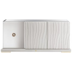 Sahara Sideboard in Wood by Roberto Cavalli
