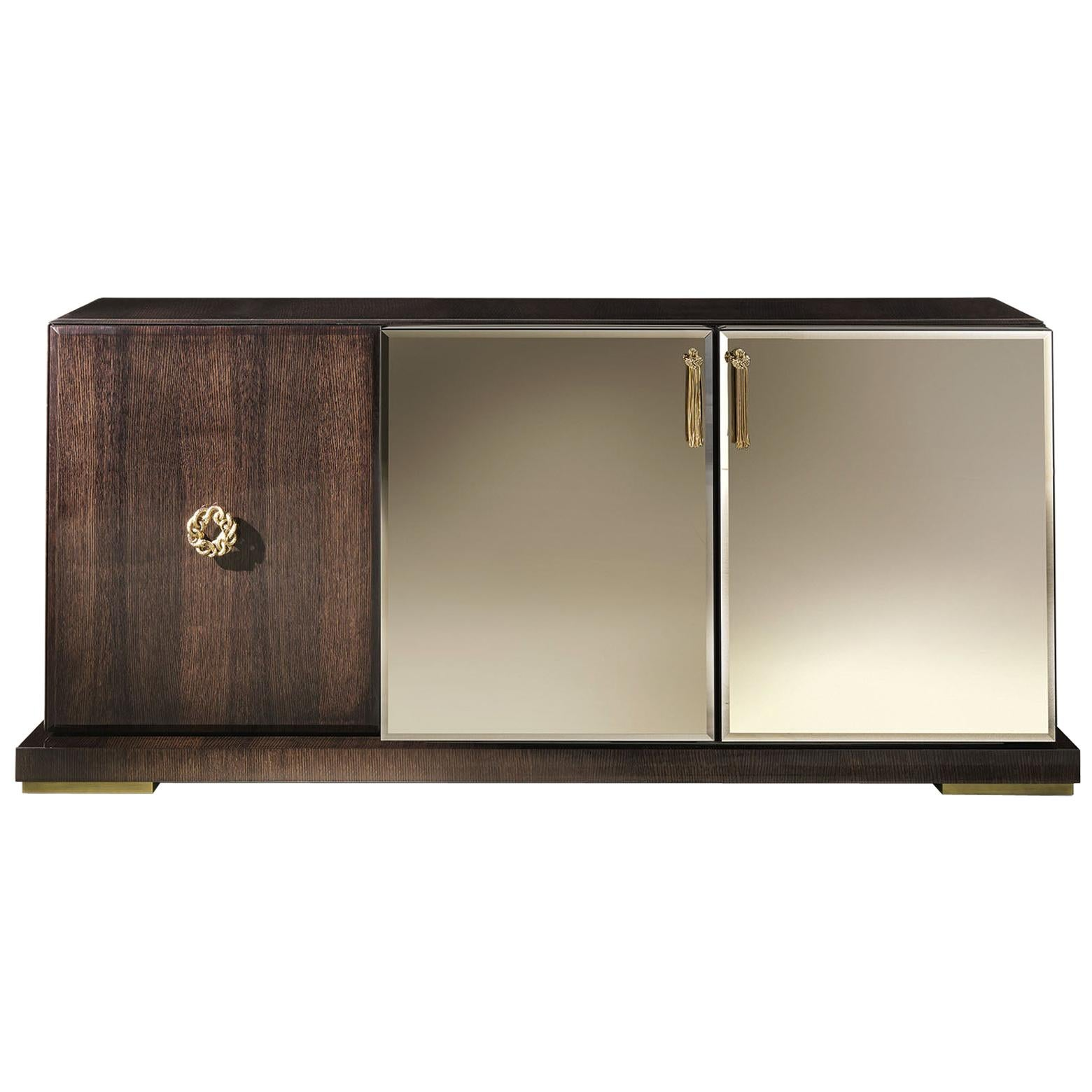 Sahara.3 Sideboard with 3-Doors in Wood by Roberto Cavalli Home Interiors
