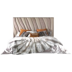 Sahara.4 Bed in Leather with Metal Frame by Roberto Cavalli
