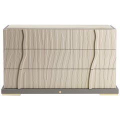 Sahara.6 Chest of Drawers in Leather by Roberto Cavalli Home Interiors