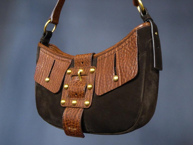 Saharienne bag in leather and suedeYves Saint Laurent Rive Gauche Circa 1995 For Sale 1