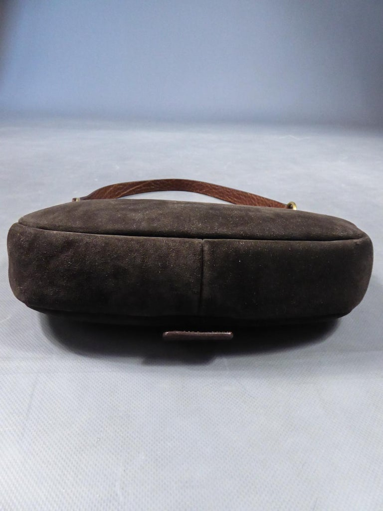 Saharienne bag in leather and suedeYves Saint Laurent Rive Gauche Circa 1995 For Sale 3