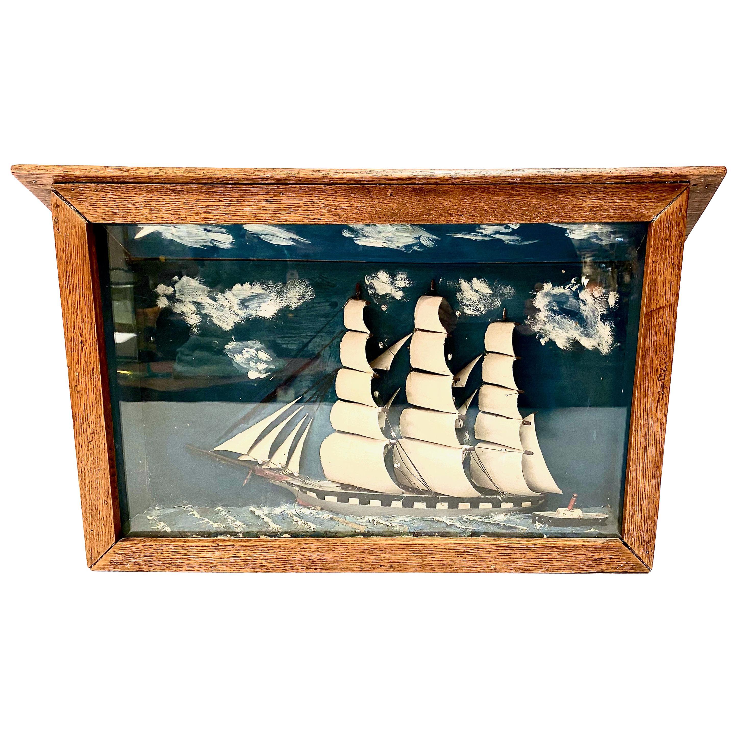 Sailing Ship Diorama, Late 19th Century