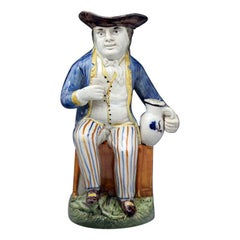 Sailor Model Toby Jug Prattware Staffordshire Pottery Late 18th Century