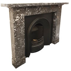Saint Anne Marble Fireplace Mantel, Reclaimed from Edinburgh