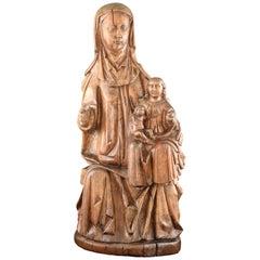 Saint Anne, the Virgin and Jesus Child, Wood, 16th Century