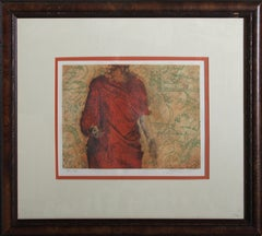 Woman in Red, Etching and Aquatint by Saint Clair Cemin