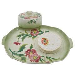 Saint-Clement French Art Nouveau Ceramic Camembert Cheese Dish
