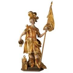 Saint Florian, Wooden Sculpture, c. 1700, Austria, Meinrad Guggenbichler