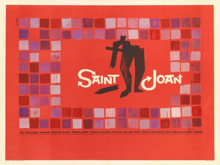 British Saint Joan Film poster For Sale