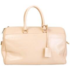 Saint Laurent 12 Hour Hour Duffle Leather Satchel Bag - Nude  (322050)