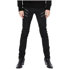 Saint Laurent 3 Zip Detail Black Jeans - Small
