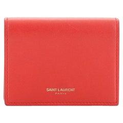 Saint Laurent Accordion Card Case Leather