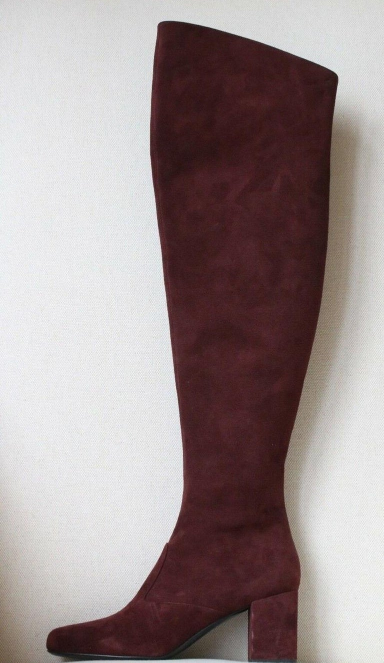 Saint Laurent BB 70 Over-the-Knee Suede Boots In New Condition In London, GB
