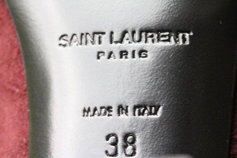 Women's Saint Laurent BB 70 Over-the-Knee Suede Boots
