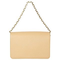 SAINT LAURENT beige quilted leather BABYLONE MEDIUM Shoulder Bag