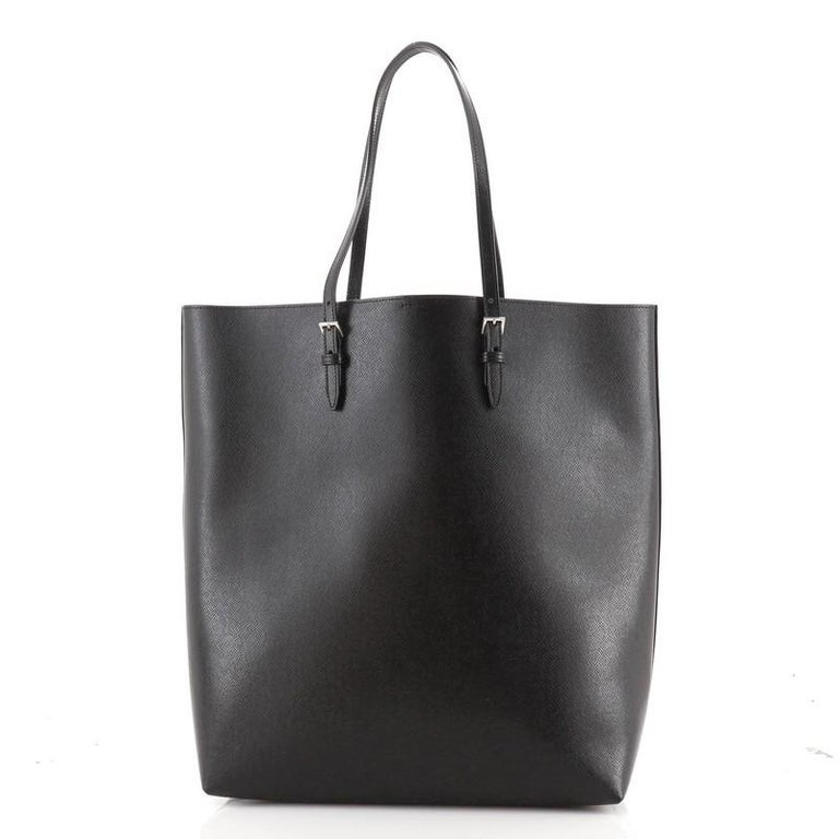 Saint Laurent Belted Open Tote Leather In Good Condition In New York, NY