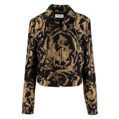 Saint Laurent Black & Gold Brocade Jacket	 SIZE 44