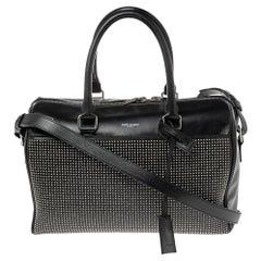 Saint Laurent Black Leather Duffel Bag