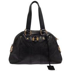Saint Laurent Black Leather Medium Muse Bag
