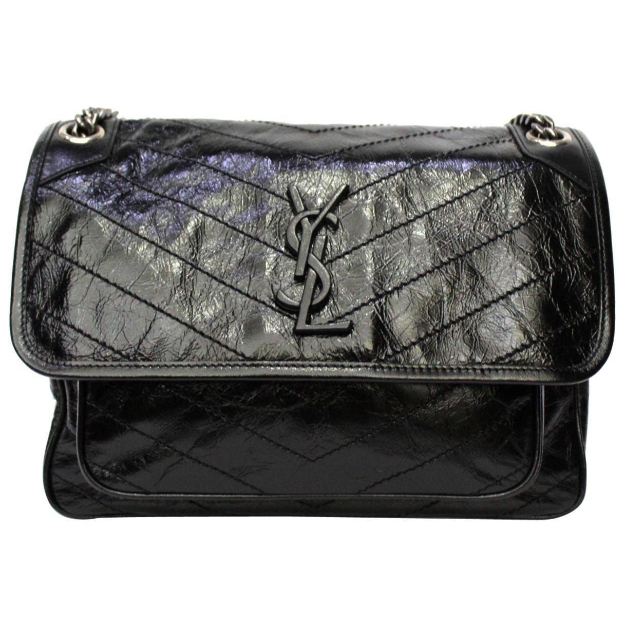 Saint Laurent Black Leather Niki Bag