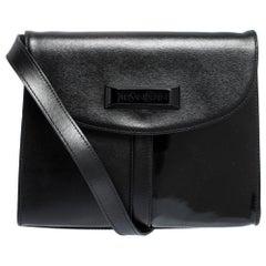Saint Laurent Black Leather Vintage Flap Shoulder Bag