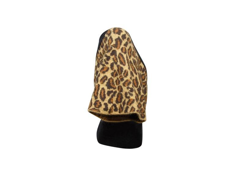 Women's Saint Laurent Black & Leopard Print Dolman Sleeve Sweater For Sale