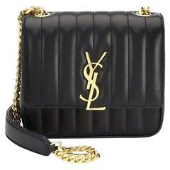 Saint Laurent Vicky MM Matelassé Leather Shoulder Bag