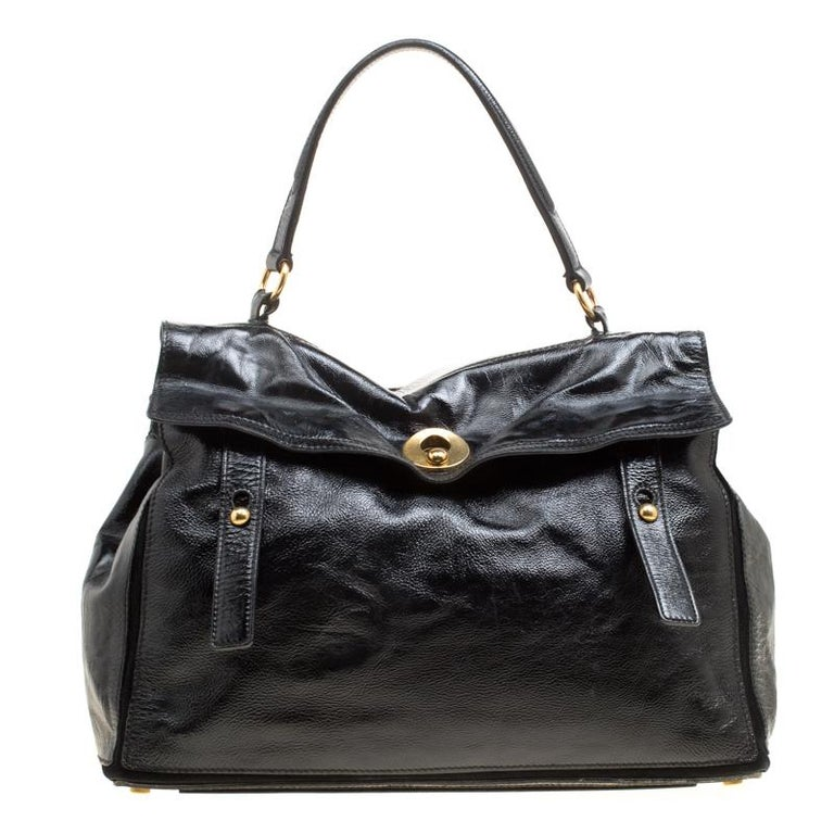 d6c7186be3 Saint Laurent Black Patent Leather Large Muse Two Satchel For Sale at  1stdibs
