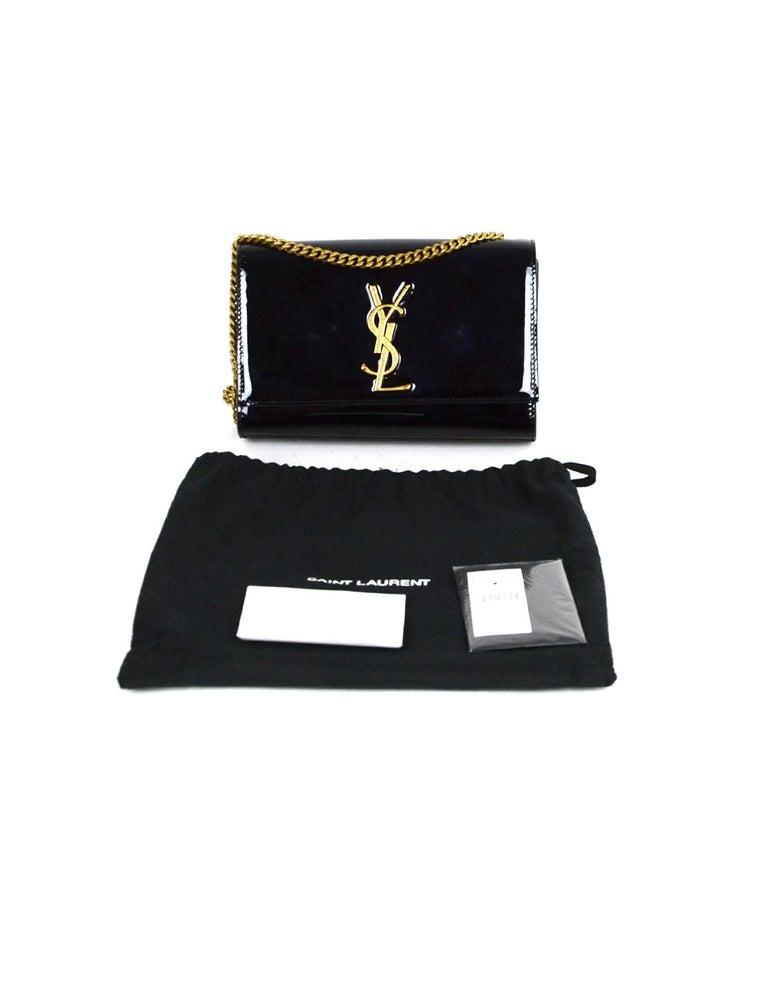 Saint Laurent Black Patent Leather Small Monogram Kate Crossbody Bag 6