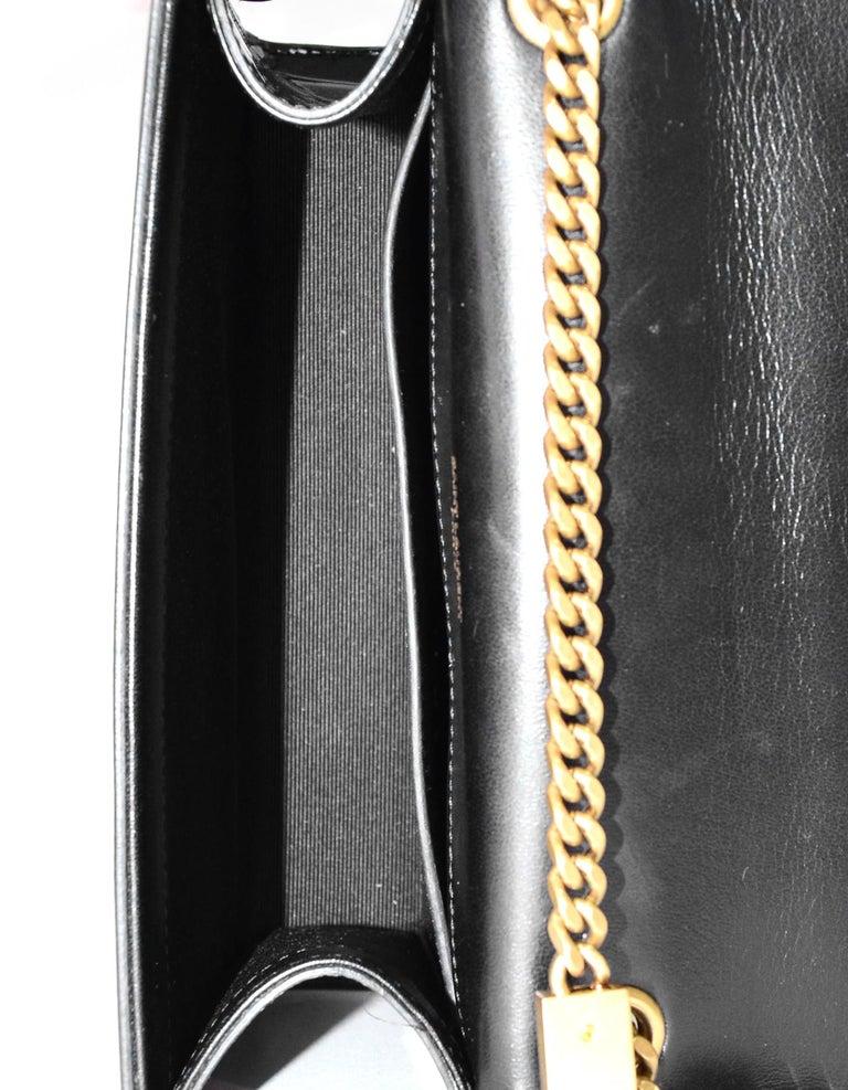 Saint Laurent Black Patent Leather Small Monogram Kate Crossbody Bag 3