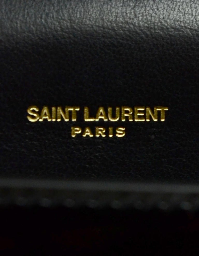 Saint Laurent Black Patent Leather Small Monogram Kate Crossbody Bag 4