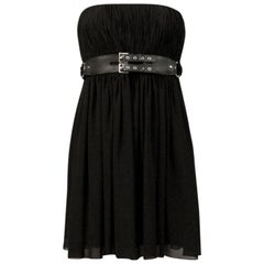 Saint Laurent Black Silk Bustier Dress