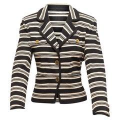 Saint Laurent Black & White Striped Blazer