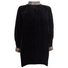 SAINT LAURENT blackVEKVE T EMBELLISHED Cocktail Dress 38