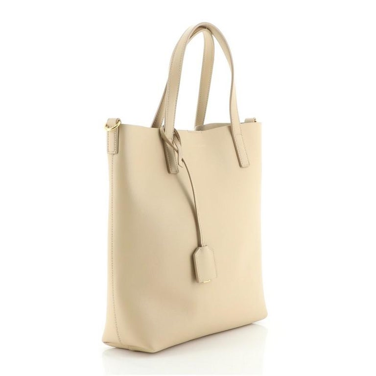 Beige Saint Laurent Bold Tote Leather Toy