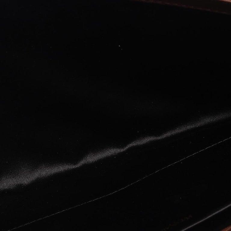 Saint Laurent Brown Leather Y-Ligne Clutch For Sale 2