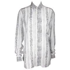 Saint Laurent Button Down White & Black Collar Shirt Size 40