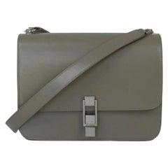SAINT LAURENT Carre Shoulder bag in Grey Leather